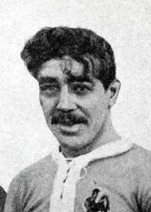 Maurice Leuvielle en 1913 capitaine face à l'Angleterre