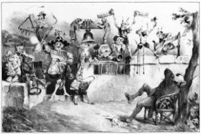 Charivari - Lithographie de Granville