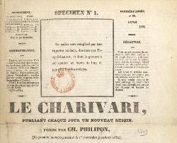 Le Charivari, N° zéro (novembre 1832)