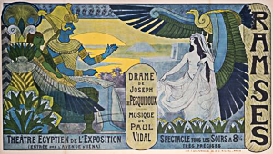 L'affiche de Ramsès présenté à l'Expo Universelle 1900