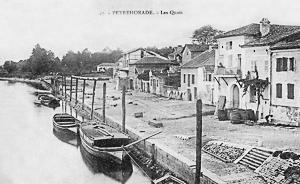 Le port de Peyrehorade sur l'Adour