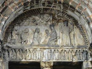 Cathédrale de Saint-Bertrand - Tympan - Adoration des Mages