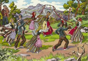 Danse des rubans en Bigorre - après avoir payé la sèga, on peut danser