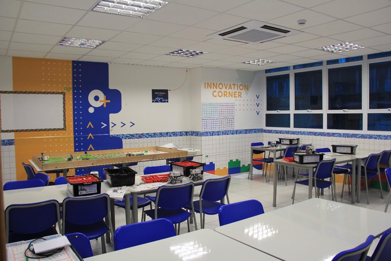 Espaço Maker do Instituto Educacional Crescer, de Campinas
