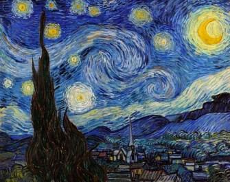 """Reprodução da obra """"A Noite Estrelada"""", de Vincent Van Gogh"""