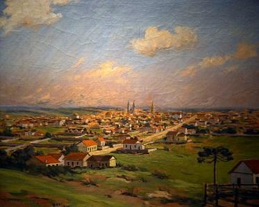 Curitiba em 1888, óleo sobre tela de Raimundo Jaskulski Junior.