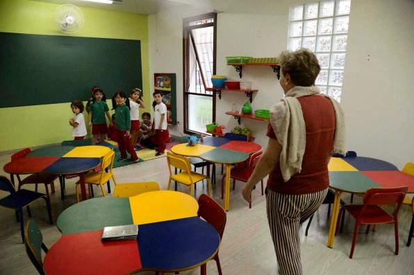 Visita à sala da educação infantil, no primeiro dia de aula.