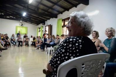 Laura Monte Serrat Barbosa durante reunião para definição do Eixo Temático 2018