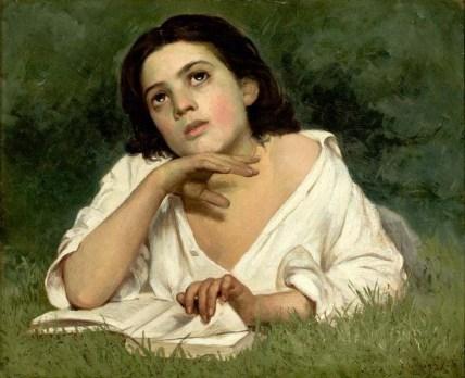 Almeida Júnior. Moça com Livro, 1850.