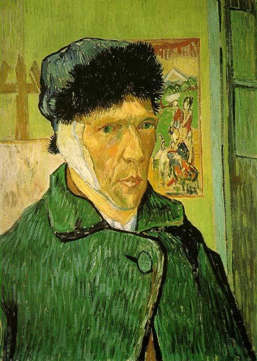 Vincent van Gogh: Autorretrato com a Orelha Cortada, 1889.
