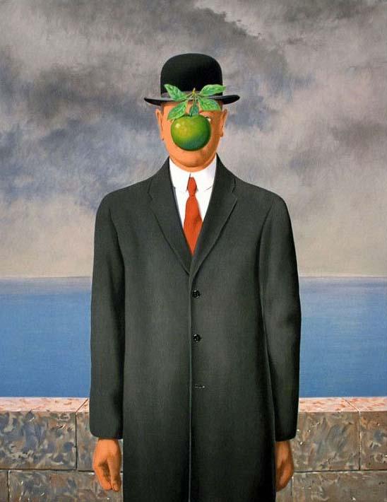 Rene Magritte: O Filho do Homem, 1964.