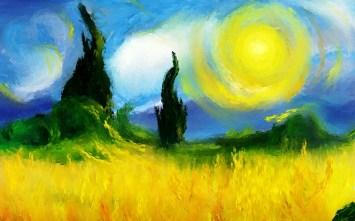 Vincent van Gogh: Sol ardente, sem data.