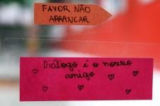 Gotas de solidariedade. Expressão dos alunos da Escola Terra Firme.