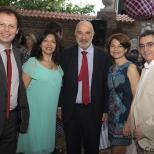 Rubén Darío Reina y su esposa, el Embajador y Juan A. Mendoza y su esposa