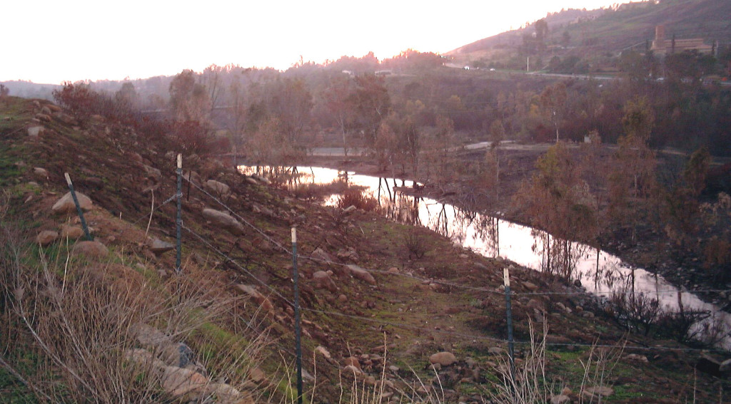 Immediate aftermath down Del Dios Gorge into Crosby Estate and Rancho Santa Fe
