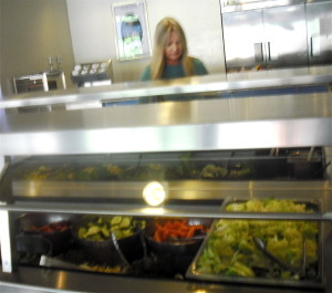 Food from the farm dished up at San Pasqual Academy cafeteria.