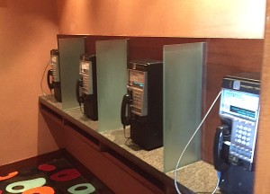 Payphone alcove at Harrah's Resort southern California.