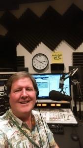Station manager John Fox at Pala's very underground radio station
