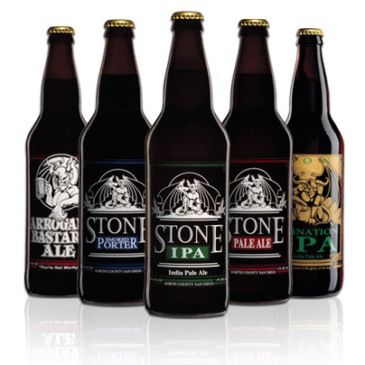 Some of Stone's signature brews.