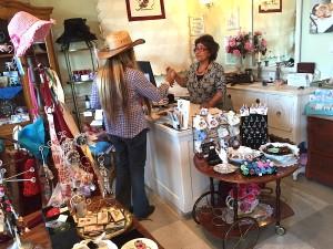 Louisa Magoon greets Shera Sandwell at The Grand Tea Room.