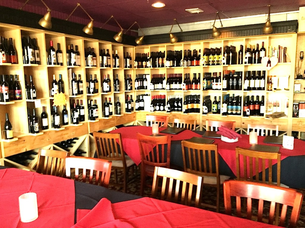 New wine room at Vinz Wine Bar on Grand.