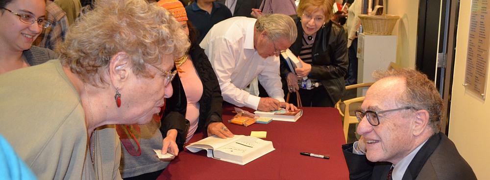 Alan Dershowitz at the San Diego Jewish book Fair.