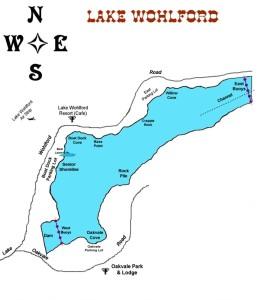 Lake Wohlford map