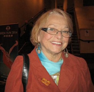 Retired science teacher and school counselor Martha Bowling attends Shen Yun at the California Center For The Arts, Escondido, on Jan. 27, 2016. (Marie-Paul Baxiu/Epoch Times)