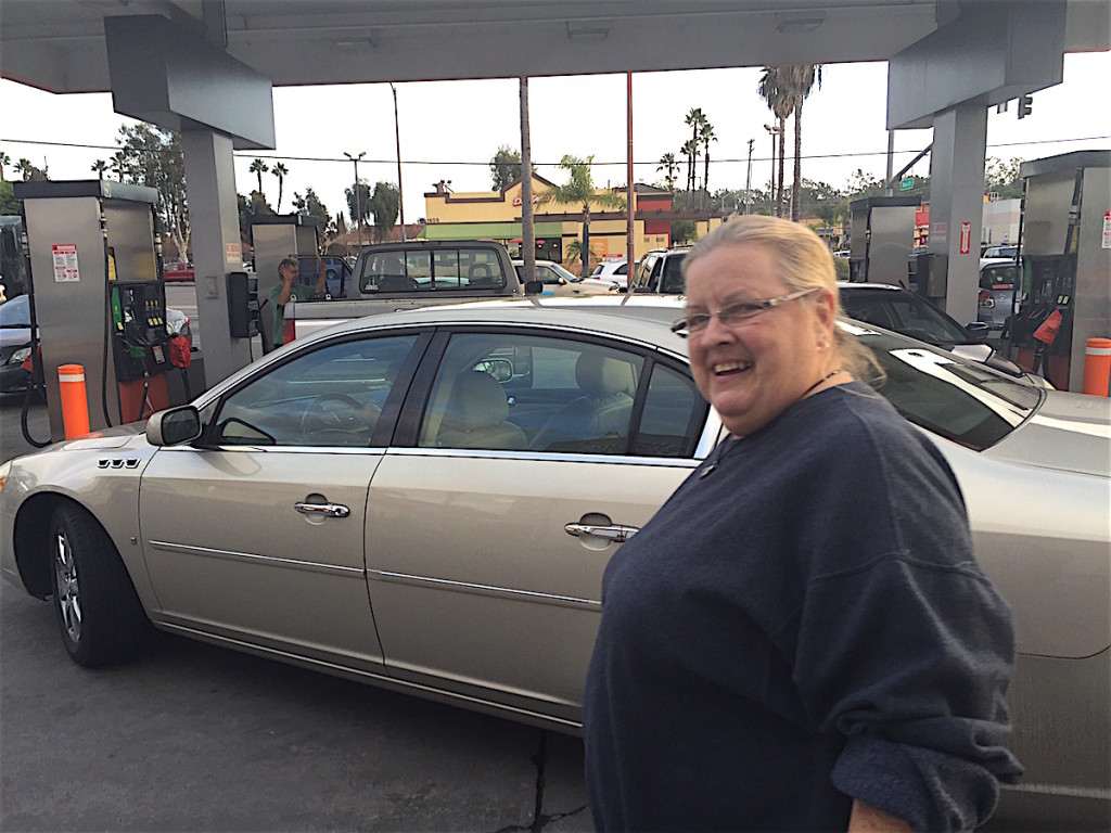Linda Peart waited, and then waited some more, for under$2 a gallon gas.