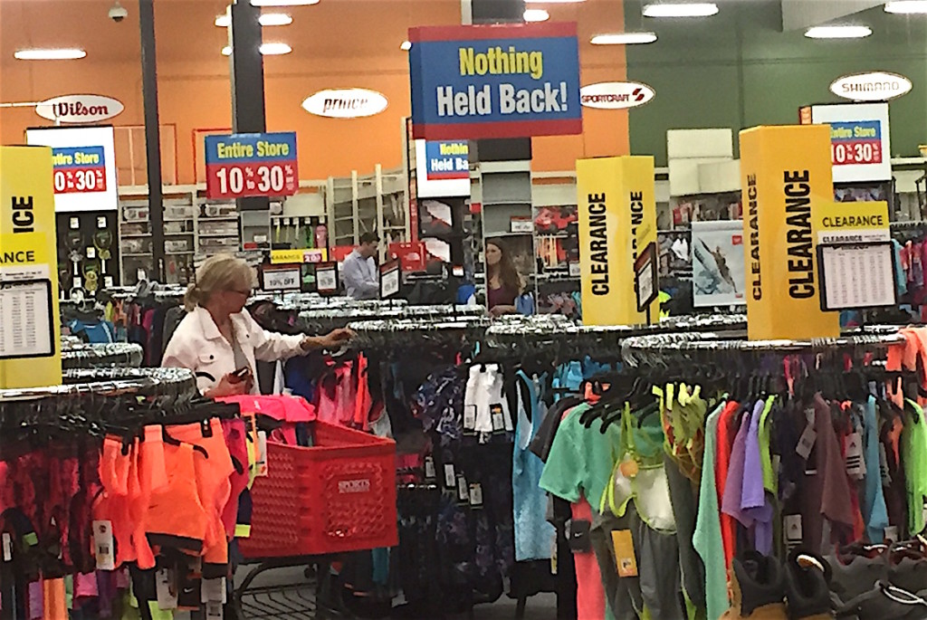 Escondido's Sports authority store is down and out for the count this week.