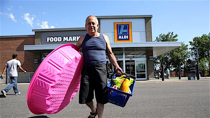 Scene at a Chicago-area ALDI.