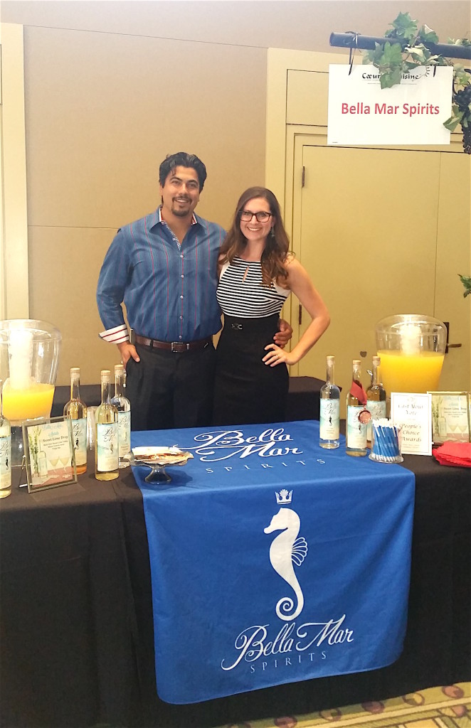 Kerstyn and Michael Cepeda show up and show off their all-natural craft spirits.