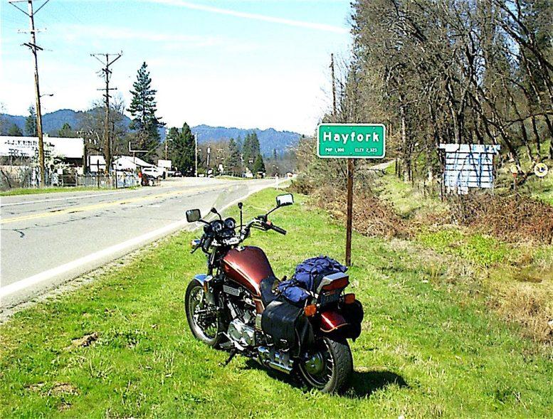 Road to Hayfork, Trinity County, California.
