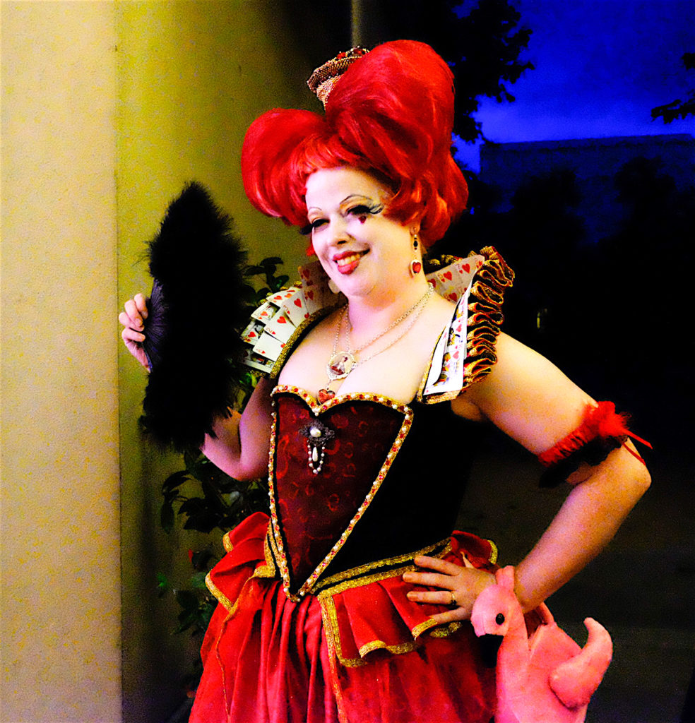 "Melinda Kimberley Layden portrayed the Queen of Hearts for the ""My Hero and Unlocking Wonderland"" preview party."
