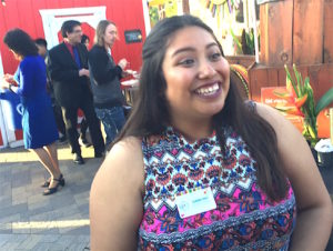 "Museum visitor services assistant Claribel Solis enjoyed the gala's ""great vibe."" (Dean Weissmann)"