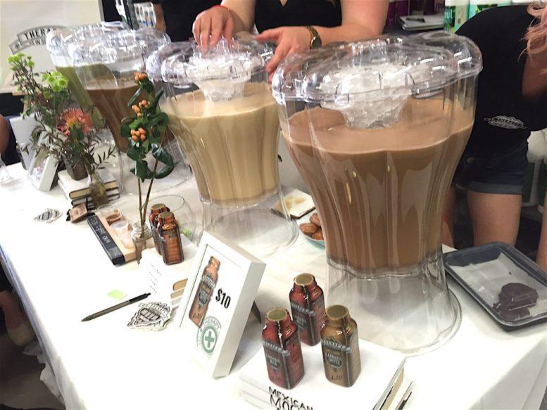 Marijuana-infused tea and malted drinks.