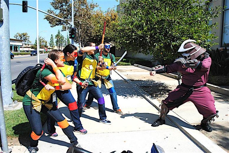 NC Ninja turtles vs. Shredder2 .