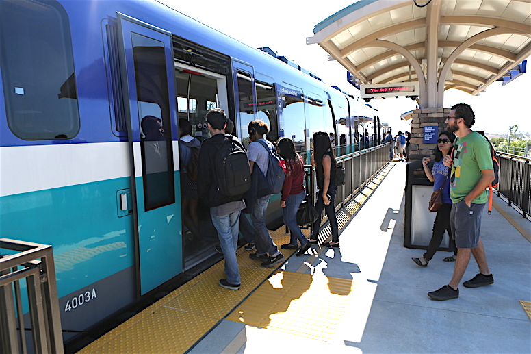 Sept, 18, 2015. San Marcos, CA. USA| Sprinter Station at California State University at San Marcos.|Photos by Jamie Scott Lytle.Copyright.
