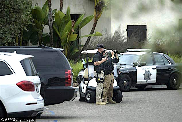 Entourage protection for President Obama at Crosby Estate, October, 2015/Image fromericksonhall.com