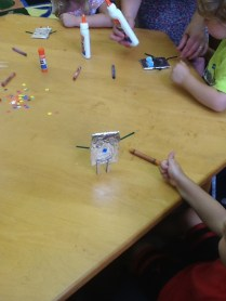 Our Clothespin robots could stand!