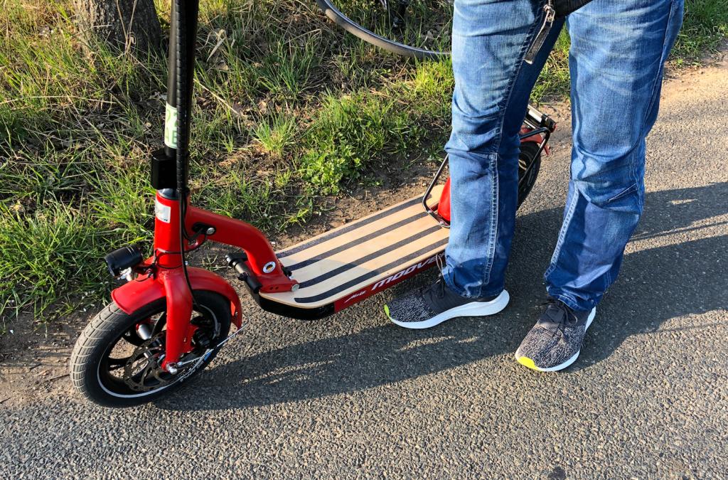 E Scooter Fahren - Start