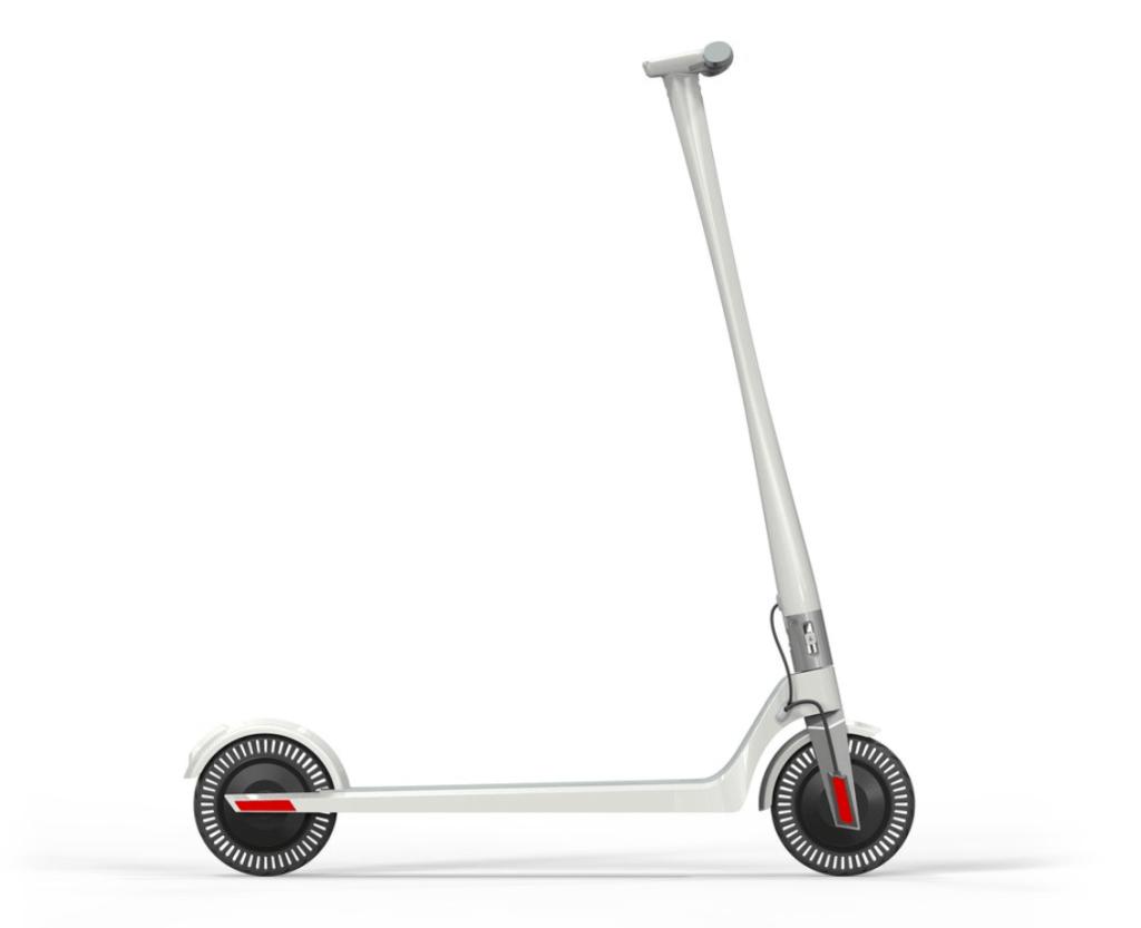 Unagi E Scooter Weiß Seite