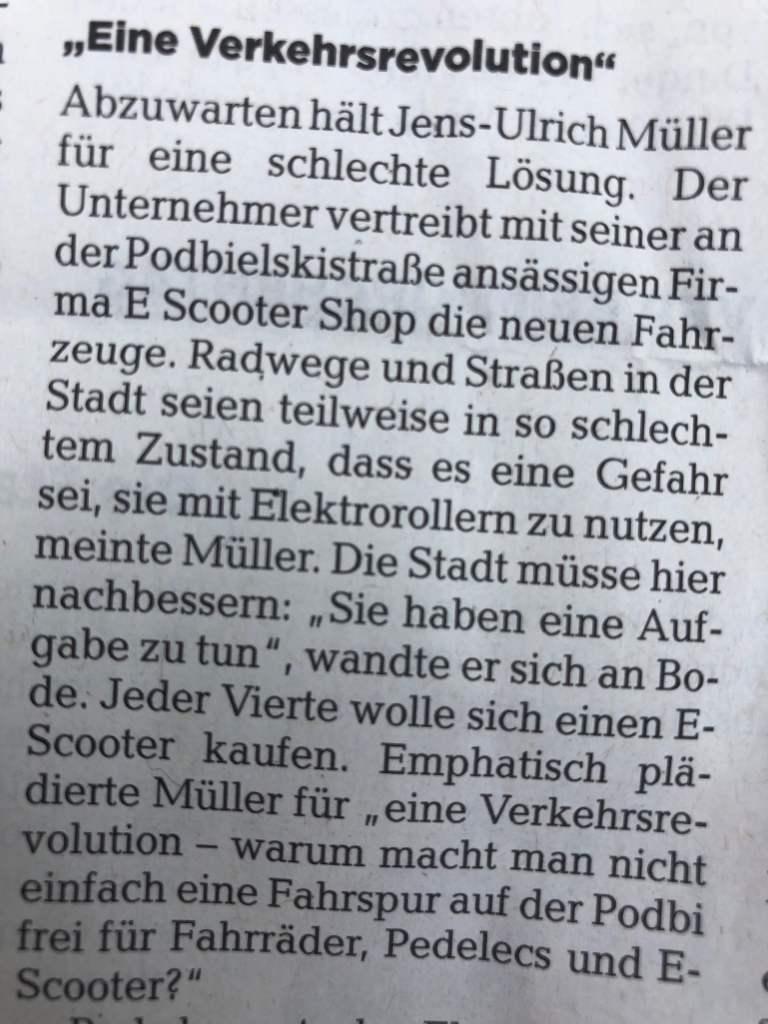 Jens-Ulrich Müller in der HAZ vom 19.06.2019