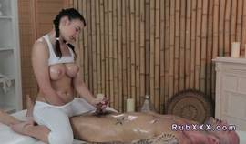 Big Tits Masseuse Giving Massage And Fucking