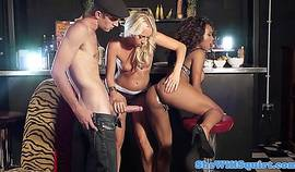 Squirting Blondes Threeway Fun With Ebony Pal
