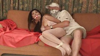 Asian roped up and treated to a bdsm session