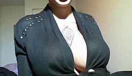 Huge Boobies On A Webcam Girl