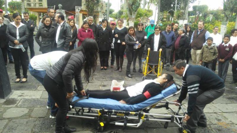 REALIZAN MACRO SIMULACRO EN HUATUSCO .