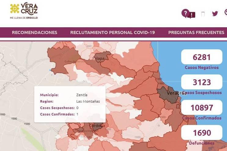 CONFIRMAN CASO DE COVID EN ZENTLA