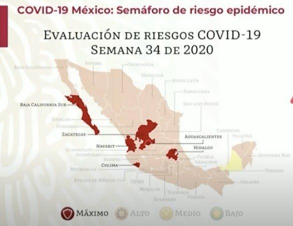 CAMPECHE, PRIMER ESTADO EN LLEGAR AL SEMÁFORO AMARILLO POR COVID-19
